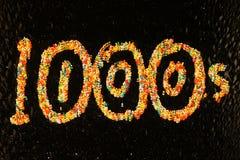 тысячи сотни Стоковые Фотографии RF