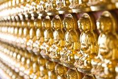 10 тысяч золотое Buddhas Стоковые Фотографии RF