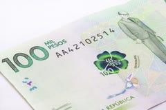 100 тысяч колумбийские песо Билл Стоковая Фотография RF