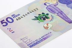 50 тысяч колумбийские песо Билл Стоковое фото RF