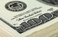 10 тысяч кучи доллара 100 долларовых банкнот Стоковые Изображения RF