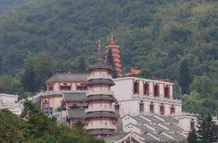 10 тысяч монастырь Гонконг Buddhas Стоковое фото RF