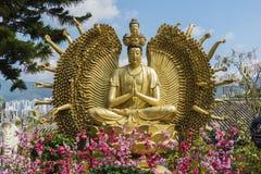 10 тысяч монастырь Buddhas в Гонконге, Китае Стоковое фото RF