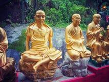10 тысяч монастырь Buddhas в Гонконге Стоковая Фотография
