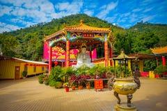 10 тысяч монастырь Buddhas в олове Sha, Гонконге, Китае Стоковые Изображения