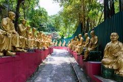 10 тысяч монастырь Buddhas (человек тучное Sze) Стоковые Изображения RF