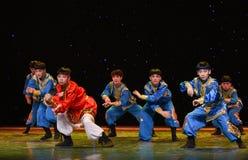 10 тысяч народный танец галоп-Монголии коней Стоковые Фотографии RF