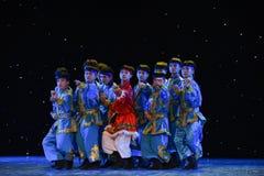 10 тысяч народный танец галоп-Монголии коней Стоковое фото RF