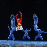10 тысяч народный танец галоп-Монголии коней Стоковые Изображения RF
