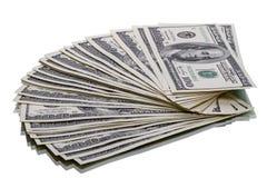 10 тысяч доллары на белизне Стоковое Фото