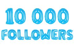 10 тысяч следующие, голубой цвет Стоковая Фотография