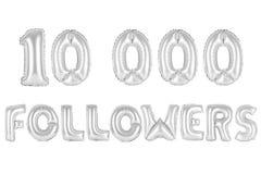 10 тысяч следующие, покрывают хромом серый цвет Стоковое фото RF