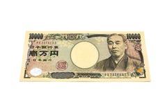 10 тысяч счета японских иен Стоковые Фото