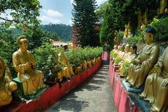 10 тысяч buddhas shatin в Гонконге Стоковое Фото