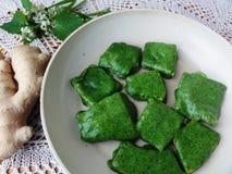 Тэмпура зеленого цвета тофу сыра Стоковая Фотография RF