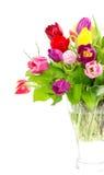 тюльпаны букета цветастые свежие Стоковое Изображение