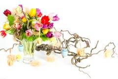 тюльпаны весны пасхи букета цветастые Стоковая Фотография