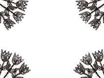 тюльпаны деревянные иллюстрация штока
