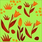 тюльпаны картины безшовные Стоковое Изображение
