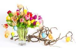 тюльпаны пасхи букета цветастые Стоковая Фотография