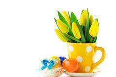 Тюльпаны пасхи стоковая фотография