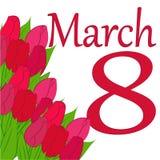 тюльпаны приветствию карточки букета Стоковая Фотография RF