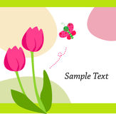 тюльпан бабочки иллюстрация штока