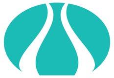 тюльпан логоса стилизованный Стоковое фото RF