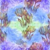 Тюльпан - состав цветков just rained картина безшовная Стоковые Фото