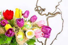 тюльпан цветастых цветков букета свежий Стоковое Изображение RF