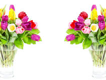 тюльпан цветастых цветков букета свежий Стоковая Фотография