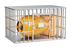 Тюремная камера с ядерной бомбой Conce запрета ядерного оружия иллюстрация вектора