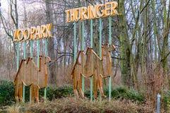 Тюрингия Эрфурта парка зоопарка стоковые изображения