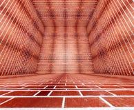 тюрьма кирпича 3d Иллюстрация вектора