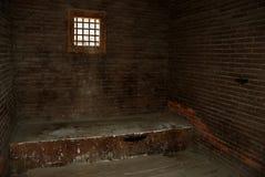 тюрьма клетки старая стоковое фото