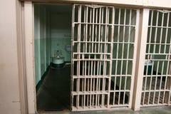 тюрьма клетки alcatraz Стоковое Фото