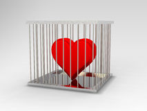 тюрьма сердца Стоковая Фотография