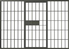 Тюрьма тюрьмы запирает иллюстрацию Стоковое Изображение