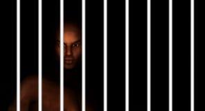 Тюрьма чернокожего человека Стоковые Фотографии RF