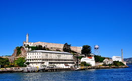 Тюрьма Alcatraz в Сан-Франциско, Калифорнии Стоковые Изображения RF