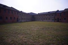 Тюрьма Lushun построенная Россией и Японией стоковые фото