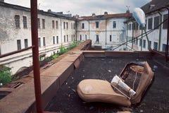 Тюрьма Patarei музея старая советская в Таллине стоковая фотография rf