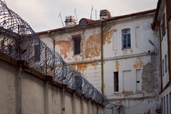 Тюрьма Patarei музея старая советская в Таллине Стоковые Фото