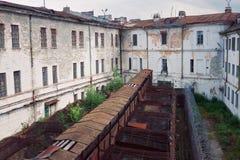 Тюрьма Patarei музея старая советская в Таллине Стоковые Изображения RF