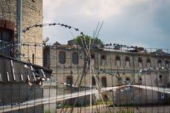 Тюрьма Patarei музея старая советская в Таллине стоковое фото