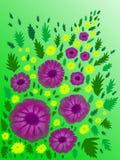 9 тюльпанов весны настроения пестроткаными установленных изображениями чудесных Стоковые Изображения RF