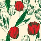 Тюльпаны безшовные Стоковое Фото