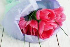тюльпаны букета розовые Стоковое Изображение