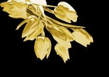 Тюльпаны золота иллюстрация штока