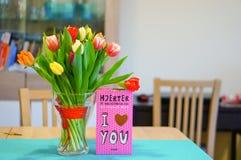 Тюльпаны и шоколад Стоковые Фотографии RF